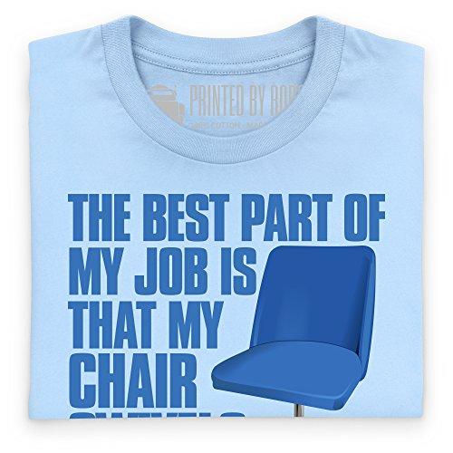 The Best Part of my Job T-Shirt, Herren Himmelblau