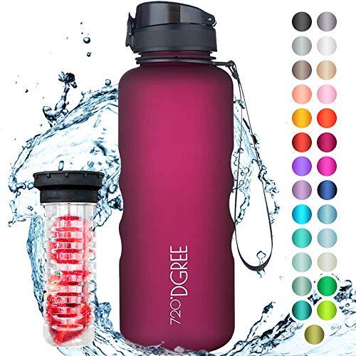 """720°DGREE Trinkflasche \""""uberBottle\"""" +Früchtebehälter - 1,5L - BPA-Frei - Wasserflasche für Sport, Fitness, Outdoor, Wandern - Große Sportflasche aus Tritan - Leicht, Bruchsicher, Nachhaltig"""