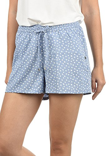 Blend She Amal Damen Chino Shorts Bermuda Kurze Hose mit Print und Kordel Loose Fit, Größe:L, Farbe:English Manor (20233) (Baumwoll-twill Shorts)