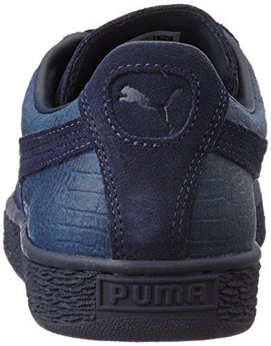Puma Suede Classic Casual Emboss, Scarpe da Ginnastica Basse Unisex-Adulto Blu (Peacoat 02)