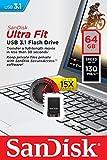 SanDisk Ultra Fit 64 GB FlashLaufwerk USB 3.1 bis zu 130MB/Sek. Lesen