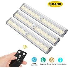 LED Unterbauleuchten, 3 Pack Fernbedienung Küche Unter Kabinett Beleuchtung  Schwenkbar Lichtleiste Küchenleiste Timer LED Küchenlampe