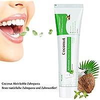 Aktivkohle Zahnpasta, Wotek Schwarze Zahnpasta für weiße zähne, Teeth Whitening Charcoal Toothpaste, Whitening Zahnpasta, Kokosnuss Zahnpasta Zähne Aufhellen, Whitening Toothpaste, Zahnaufhellung, Minze Geschmack
