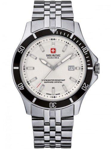 SWISS MILITARY-HANOWA Herren Analog Quarz Uhr mit Edelstahl Armband 06-5161.2.04.001.07