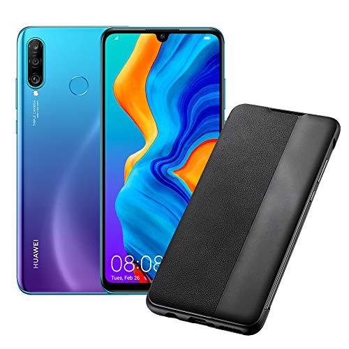huawei p30 lite (blue) smartphone + cover, 4 gb ram, memoria 128 gb espandibile, display 6.15 fhd+, tripla fotocamera posteriore da 48+8+2 mp, fotocamera anteriore 24 mp [italia]