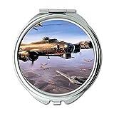Yanteng Weltkrieg Flugzeuge, Spiegel, Schminkspiegel, Straßenkämpfer Buch, Taschenspiegel, Tragbare Spiegel