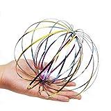 BeiYoYo Magic Flow Ring Spirale Edelstahl Ringe Spielzeug Kinetic 3D Regenbogen