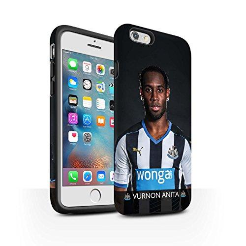Offiziell Newcastle United FC Hülle / Matte Harten Stoßfest Case für Apple iPhone 6+/Plus 5.5 / Pack 25pcs Muster / NUFC Fussballspieler 15/16 Kollektion Anita