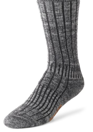 Crew Heavyweight Crew Socken (Wigwam Men's Merino/Silk Hiker Heavyweight Crew Socks, Charcoal, Large)