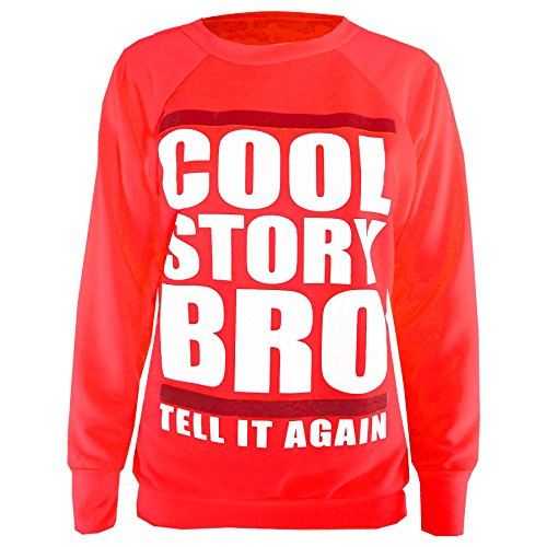 Be Jealous Damen Graphischer Aufdruck Freizeit Fleece Sweatshirt Top Jogginghose Trainingshose Cool Story Bro Sweatshirt Rot - Jogginghose