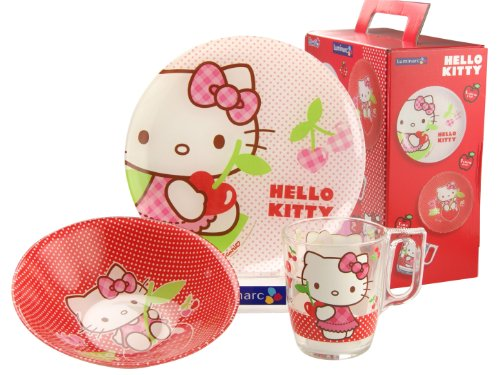 Luminarc 15725, Set di Stoviglie da bambini Disney Hello Kitty