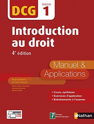 Introduction au Droit - DCG 1 - 4e édition