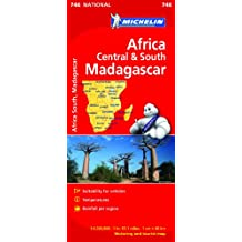 Africa Central and South Map (Michelin National Map)