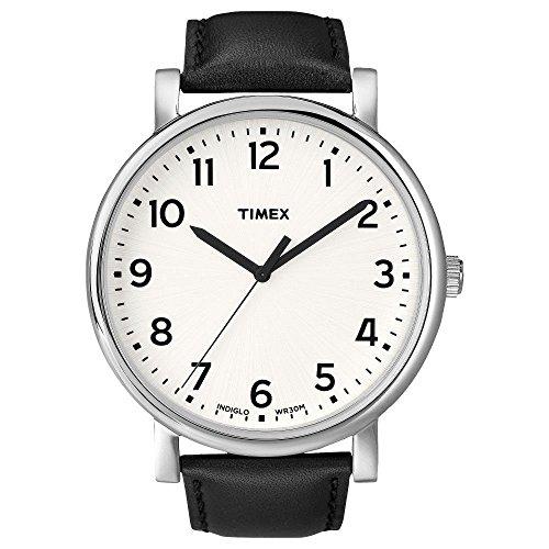 Timex Damen-Armbanduhr Weiß Quarz Leder T2N338D7