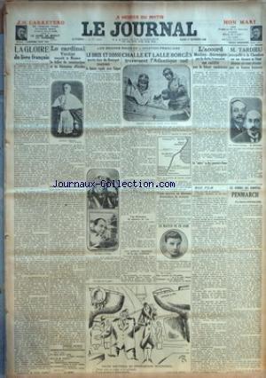 JOURNAL (LE) [No 13575] du 17/12/1929 - LA GLOIRE DU LIVRE FRANCAIS - LE CARDINAL VERDIER - LES GRANDS RAIDS DE L'AVIATION FRANCAISE - LE BRIX ET ROSSI - CHALLE ET LALLE BORGES - L'ACCORD MELLON-BERENGER SUR LA DETTE FRANCAISE EST RATIFIE PAR LE SENAT AMERICAIN - TARDIEU A LA CHAMBRE - LES HOMMES DES TEMPETES - PENMARCH PAR CONDROYER - BOXE - CARLOS FLIX ET EMILE PLADNER - DESSIN DE ARNAC - LOUIS ROLLIN AU SALON NAUTIQUE par Collectif