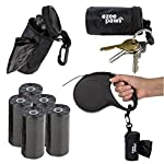 Ezee Paws Dog Poo Waste Bag Holder Dispenser with Lead Attachement and Key Clip Includes 5 Rolls (100 Bags) 6