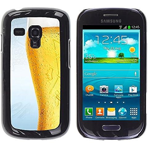 TORNADOCOVER ( Non Per S3 I9300) Unico Immagine Rigida Custodia Case Cover Protezione Per SMARTPHONE Samsung Galaxy S3 MINI I8190 I8190N - divertente bicchiere di birra gelido