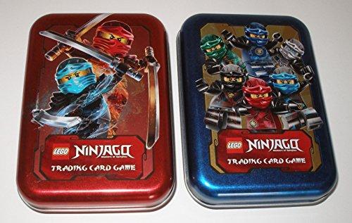 Karten Box, Dose für Trading Cards in Blau und Rot ()
