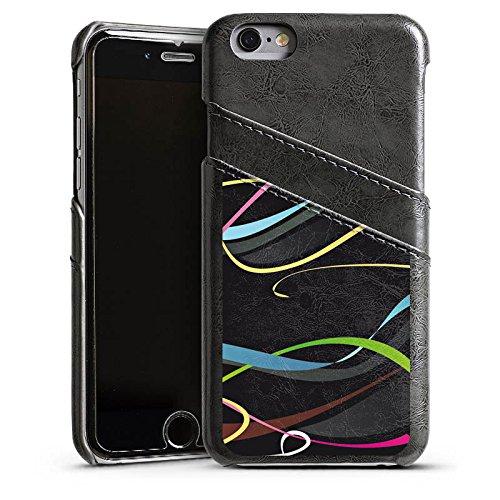 Apple iPhone 4 Housse Étui Silicone Coque Protection Fioriture couleurs Vrilles Étui en cuir gris