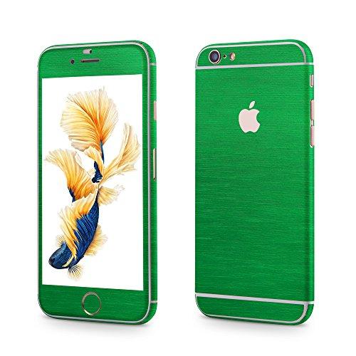 Apple iPhone 6 Plus, 6s Plus Sticker OKCS® Skin Folie Full Body Wrap Aufkleber Schutzfolie Protector in Metallic Design Hulk Green