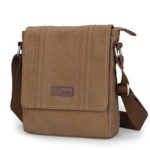 Everdoss Hommes sac à bandoulière en toile sac d'épaule sac de messager sac de loisirs petit style rétro