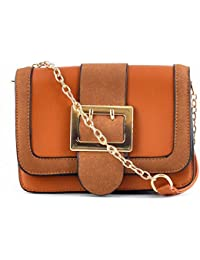 Urbantra Latest Elegant Casual Party Fine Faux Leather Cross Body Sling Bag For Women & Girls With Flap Button...