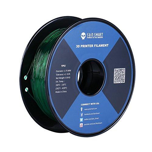 SainSmart TPU Filament für 3D Drucker, Smaragd, 1.75mm, 0.8kg