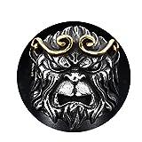 Beydodo Schmuck Edelstahl Ring für Herren Tierkopf Freundschaftsring Punk Ring Gold Größe 60 (19.1)