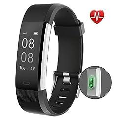 Idea Regalo - Fitness Tracker,YAMAY Orologio Fitness Activity Tracker Cardio Impermeabile IP67 Smartwatch Cardiofrequenzimetro da Polso Contapassi Braccialetto Pedometro Smart Watch per Uomo Donna per Android e iOS