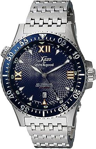 Xezo pour Unite4:good montre automatique Air Commando, verre saphir de fabrique suisse, mouvement Citizen, 20 (Rolex Omega Orologi Omega Watch)