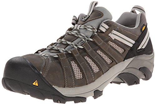 Keen Utility Men's Flint Low ESD M Steel Toe Work Boot, Gargoyle/Forest Night, 13 D US Low Steel Toe Boot