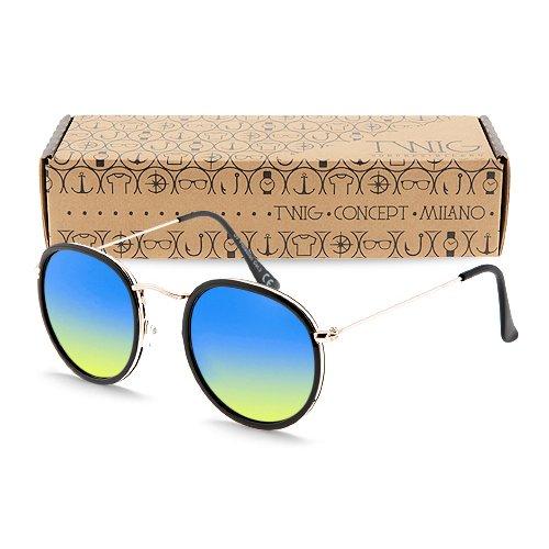 occhiali-da-sole-twig-rembrandt-uomo-donna-montatura-rotonda-uv-400-cat-3-sunglasses-nero-blu-giallo