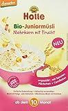 Holle Bio-Juniormüsli Mehrkorn mit Frucht, 4er Pack (4 x 250 g)