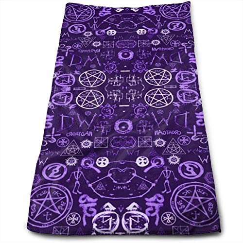 Supernatural Symbols Two Multi-Purpose Microfiber Towel Ultra Compact Super Absorbent and Fast Drying Sports Towel Travel Towel Hair Beach Towel - Moen-symbol