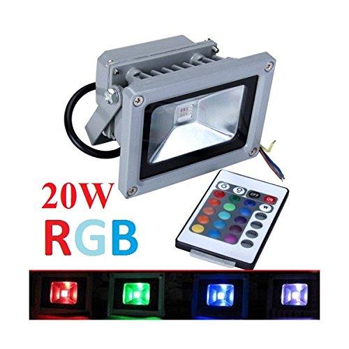 Preisvergleich Produktbild 20W RGB LED Flutlicht Fluter Strahler