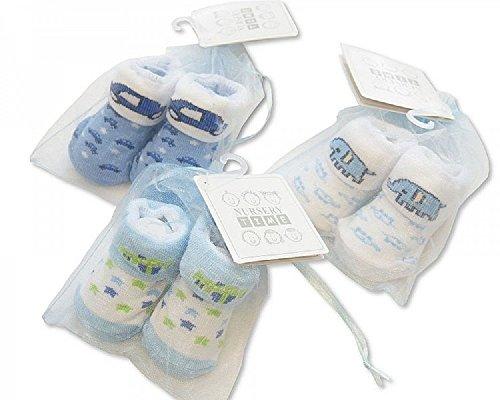 Frühchen-/Erstlingssöckchen Jungen 6115-2119-blau/verschiedene Motive/- Geschenkepackung -, Größe:Neugeborene