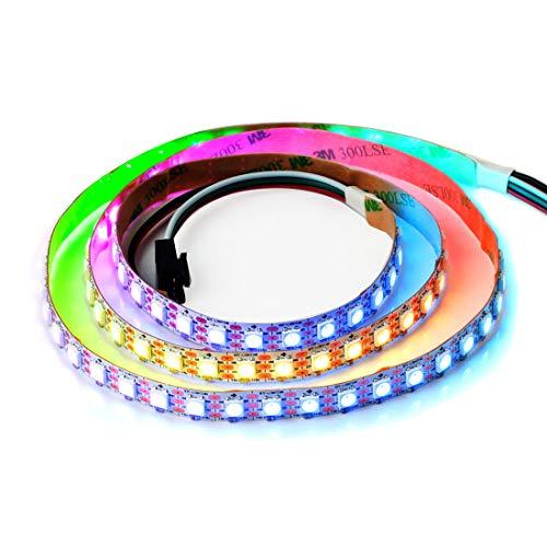 BTF-LIGHTING 3.2FT 1m WS2812b 100 Pixeles Tira Llevada Individualmente Direccionable del PCB Blanco Flexible Color Ideal No Impermeable DC5V