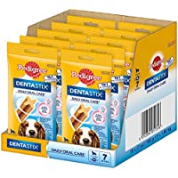 Pedigree Pack de Dentastix de uso Diario para la Limpieza Dental de Perros Medianos (10 Packs de 7ud)