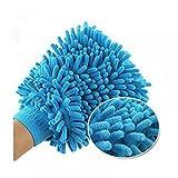 Maxgoods Gant en microfibre pour vitres de voitures à laver Home Chiffon de nettoyage Serviette de Duster Gants, Microfibre, bleu, Taille M