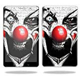 "Mightyskins Protective Vinyl Skin Decal Cover for Samsung Galaxy Tab Pro 8.4""T320 Tablet Skins wrap Sticker Skins Evil Clown"
