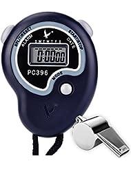 Paxcoo Arbitre Numérique Sport Chronomètre Avec Acier inoxydable Whistle