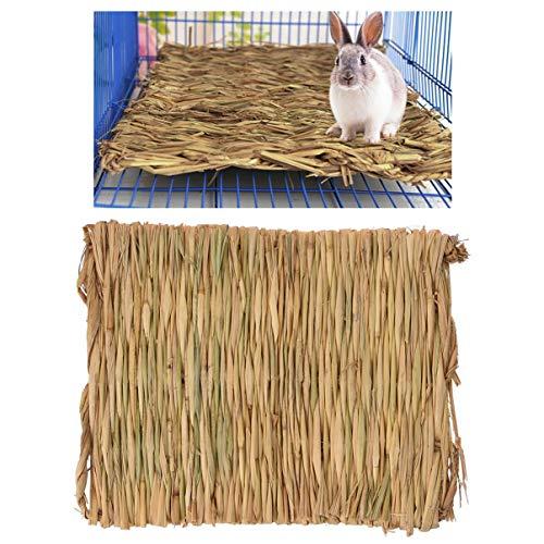 Petacc Cama de Hierba de Hamster Estera Tejida para Animales...