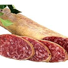 SALCHICHÓN CULAR IBERICO EXTRA . Elaboración artesanal con carne de cerdos ibericos , curación tradicional y envasado al vacio para una mejor conservación. Peso aproximado 1,250-1,450 Kg