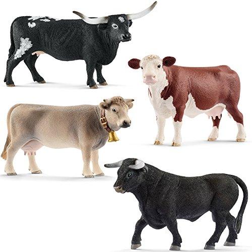 euheiten 2018 Rinder 13865 13867 13874 13875 Spielfiguren Set ()