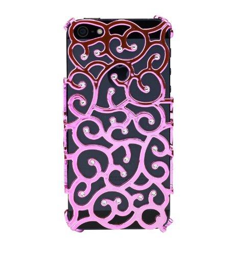 Diamond cover 202041 - cover con cristalli swarovski per apple iphone 4/s, colore: rosa