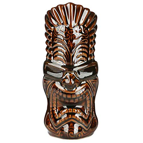 Music - 600ml Keramik Tiki Becher Sammlerstück Cocktail Cup Bar Bierkrug ()