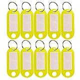 sumaju 10pcs llavero etiquetas, plástico equipaje ID etiquetas con llavero