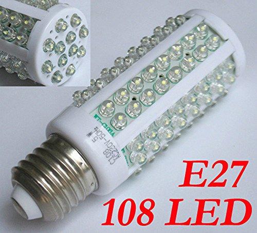 Preisvergleich Produktbild 108 LED E27 Weiß Strahler Lampe Licht Leuchte Birne Neu 230V