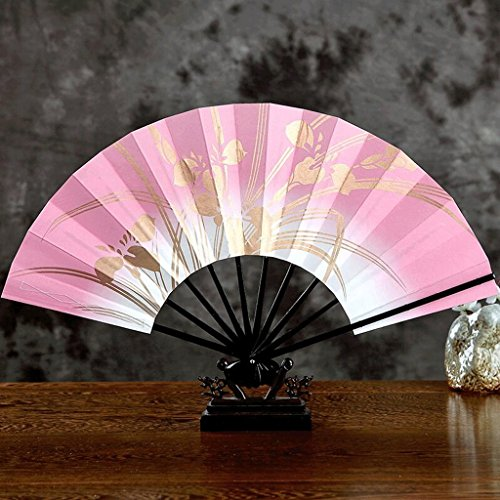 WTL Art Deco Ms Druckpapier Holz Faltventilator Japanisch-Stil Sided Folding Fan