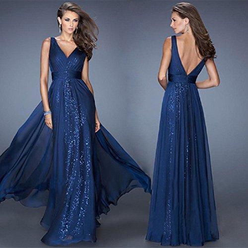 XJoel europäischen und amerikanischen Frauen V-Ausschnitt Halfter Kleid Taille Garn Kleid Rock